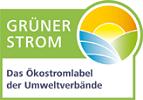 Grüner Strom Label der NEW Energie für den Ökostromtarif Blauer Himmel.