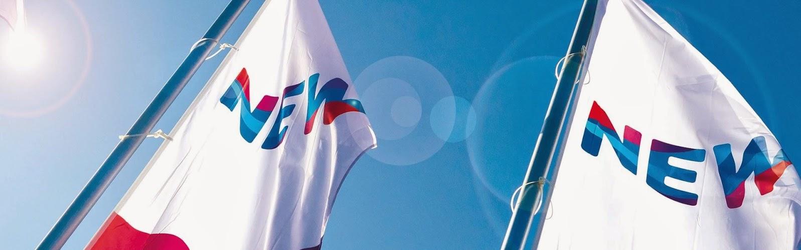 Die Flaggen der NEW Energie bzw. des Mutterkonzerns NEW AG.