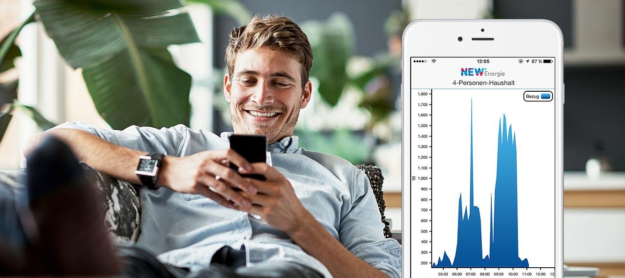 Dank Smart Meter haben Sie Ihren Verbrauch und Kosten jederzeit im Blick. Das intelligente Messsystem NEW SmartEView hilft Ihnen dabei.