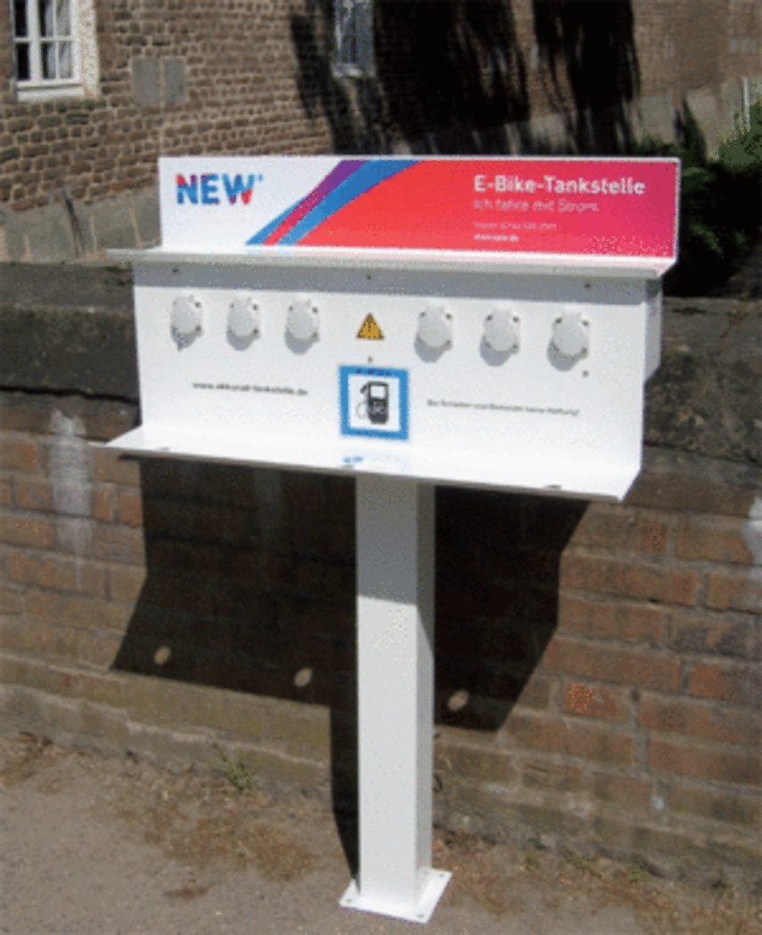 Die Tankstelle für Elektrofahrräder (E-Bikes) der NEW Energie.
